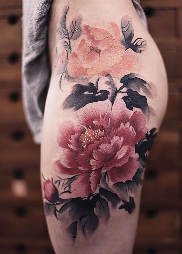 Gorgeous Watercolor Tattoos Made By Chen Jie In 2020 Vintage