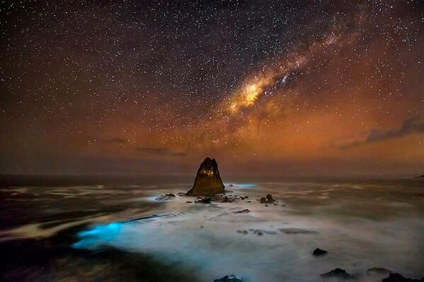Milky way over Papuma Beach, Indonesia (cr. @GoogleEarthPics)