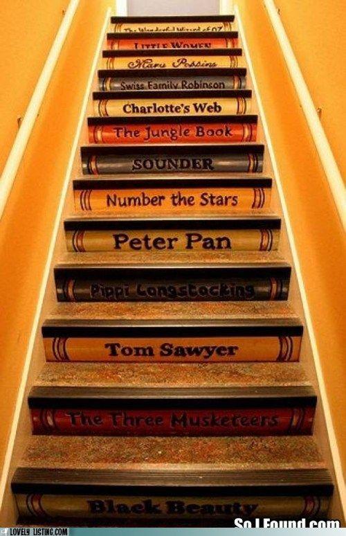 Bookshelf Painted Stairs