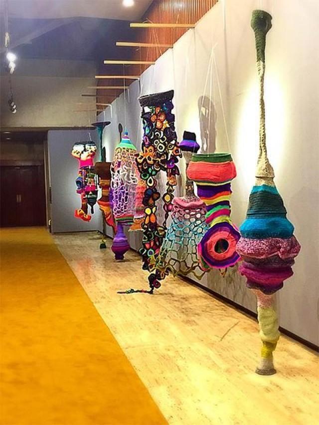 'Liwanag': CCP shines spotlight on Aze Ong's crochet art | Lifestyle | GMA News Online