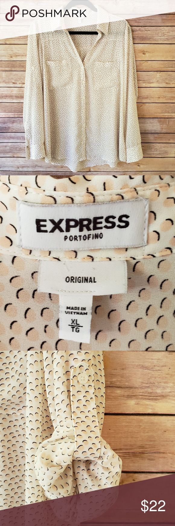 Express Portofino Shirt Original XL Blush Dots EUC Sadly this cute top has only … – Adventure and Nature Sports Lovers
