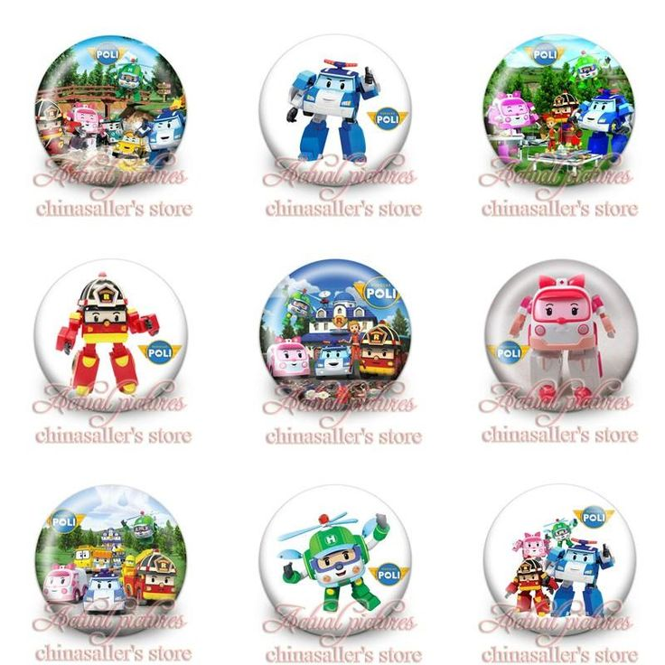 2016 New Badges Robocar Poli Cartoon Pin Button Brooch Badge 3cm Cosplay Tinplate Badge Fashion Badges Collection Bags Accessories From Chinasaller, $2.82 | Dhgate.Com