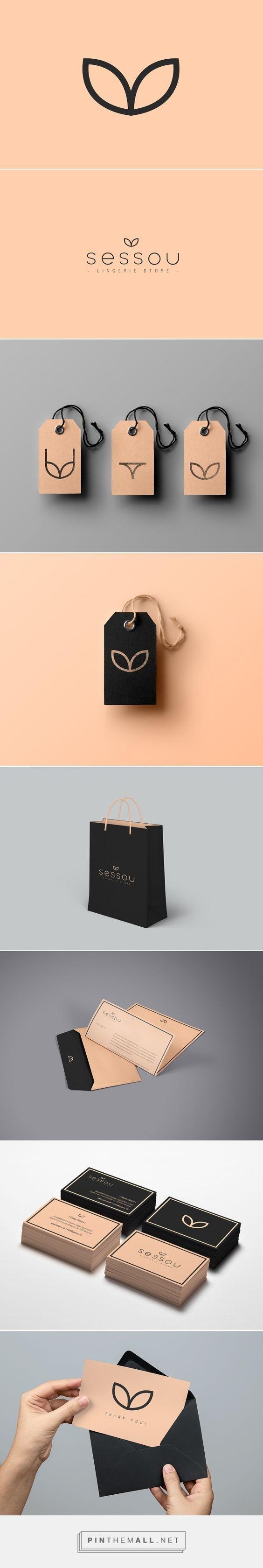 Trovo raffinato e ingegnoso questo logo per un negozio di intimo.   Guarda i 3 cartellini per capire da cosa è nato!  Logo di Andrea Cutura