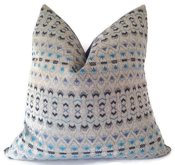 Outdoor Pillow  Sunbrella Pillow  Global Pillow  Grey