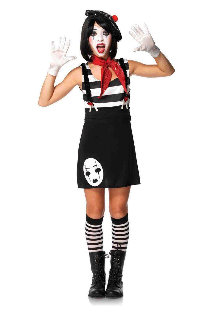 New Leg Avenue J49073 JR. MISS MIME Halloween Costume  #LegAvenue