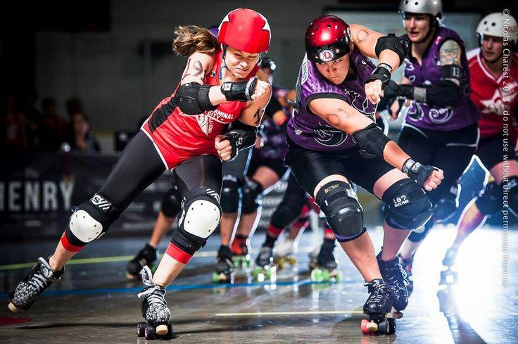 Derby photo via Nicolas Charest of Rollergirls.ca