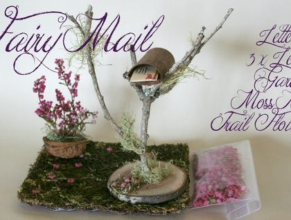 Fairy Furniture Set 'Fairy Mail' $50NZD + Shipping