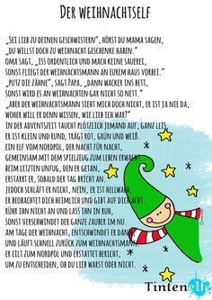 Basteln und Nähen für Kinder - Adventsgeschichte mit kleinem Elf zum download…
