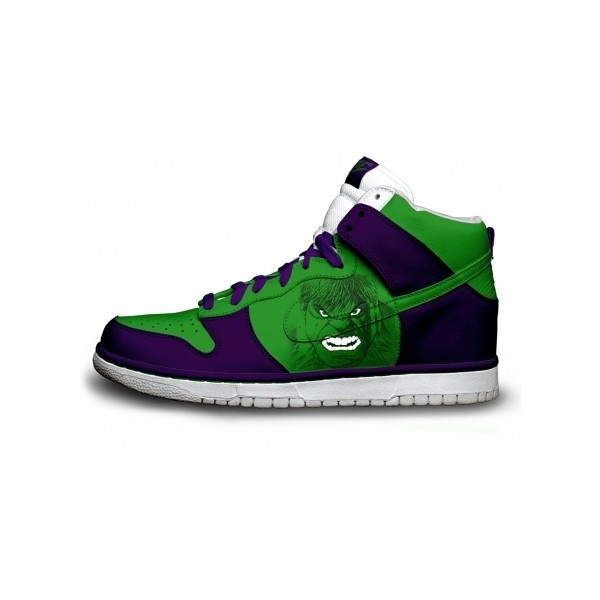 Hulk Nikes Dunks High Top Shoes Camper Green | Nike Sb Dunk Skate.
