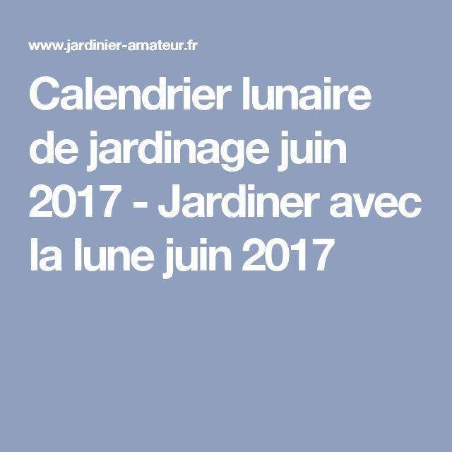 Les 25 meilleures id es de la cat gorie calendrier lunaire for Jardin lune juin 2015
