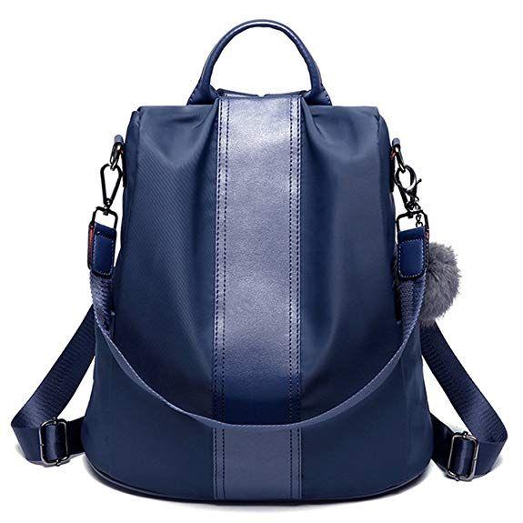 NEW UK Women Backpack Ladies Rucksack Waterproof Nylon School bags Anti-theft