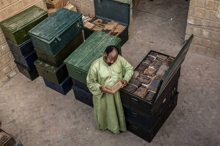 The Librarian Who Saved Timbuktu's Cultural Treasures From al Qaeda.   A middle-aged book collector in Mali helped keep the fabled city's libraries, books and manuscripts safe from occupying jihadists