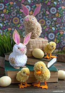Tina's handicraft : pom pom birds