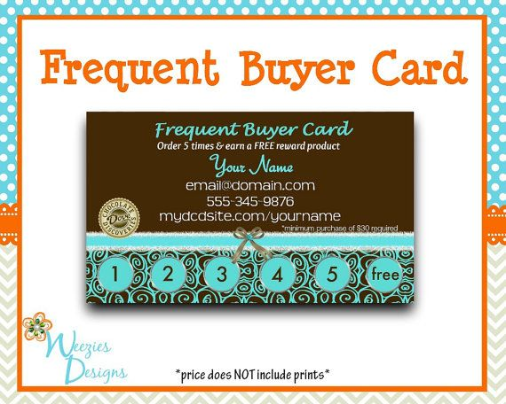 Dove Chocolate Frequent Buyer Card Business Card by WeeziesDesigns