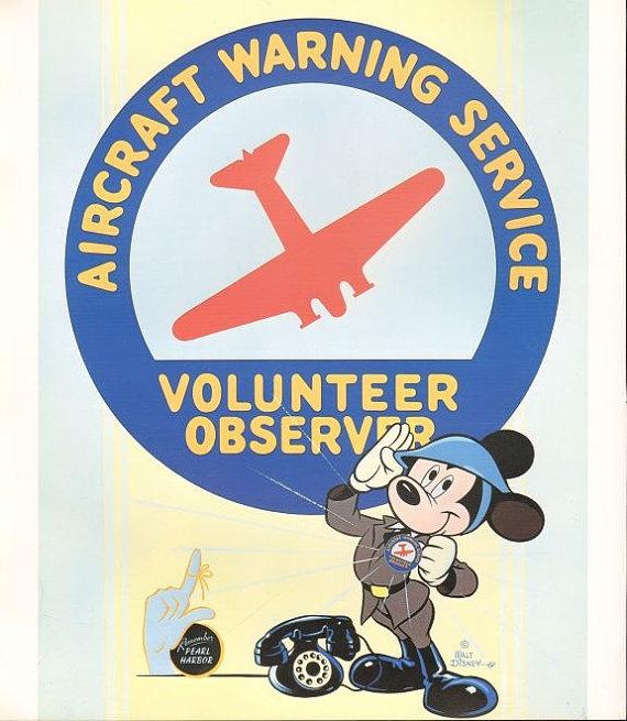 Disney Mickey Mouse Volunteer Observer by HeatherwoodArtPrints, $9.50