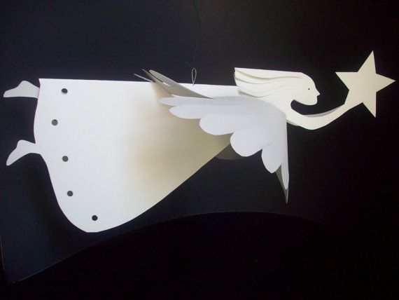 Hey, I found this really awesome Etsy listing at https://www.etsy.com/ru/listing/193596851/paper-angels-one-star-bearing-angel