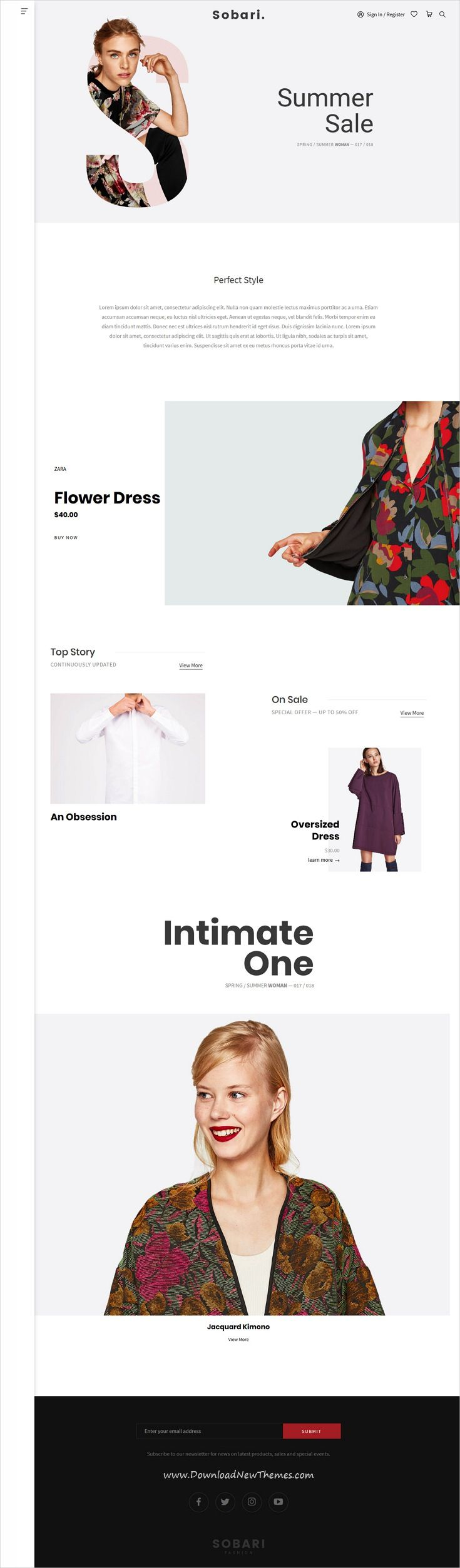 Sobari is clean, #minimalist and modern design 9in1 responsive WooCommerce #WordPress theme for stunning fashion #store eCommerce #website to live preview & download click on image or Visit 👆