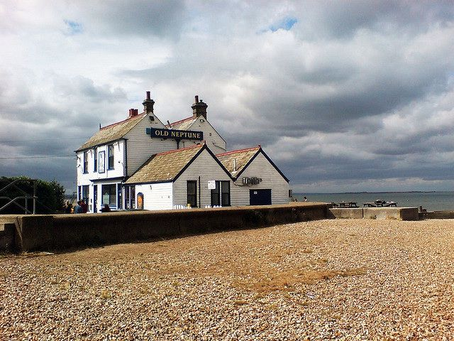 Watching the storms roll in at the Old Neptune pub on Whitstable beach in Kent