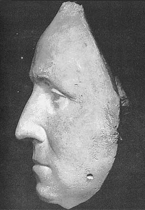 "The Real Face of George Washington: Profile. From Life Mask of the 53 year old Washington made by French sculptor, Jean Antoine Houdon. Commenting to a friend, Houdon said he had no idea of the ""majesty and grandeur of Washington's form and features"" until he studied him as a subject."