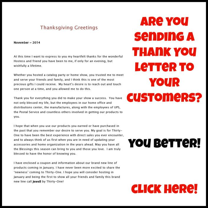 Direct Sales consultantsu2026did you say THANK YOU? Vendite dirette - thank you letter to employees