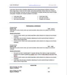 professional resume fonts