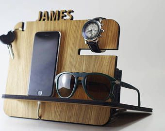 Gift for Men,Anniversary Gift for Husband,Custom Gift for Dad,Fathers Day Gift,Boyfriend Gift,Gift,Gift for Him,iPhone Docking Station