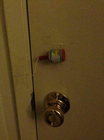 The first time I was introduced to this prank is when I was visiting my grandma and she put one on the front door... scared me so bad