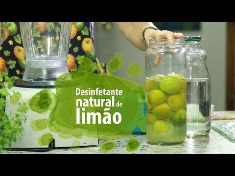 Desinfetante CASEIRO de limão - YouTube