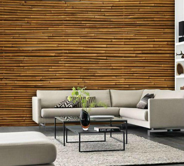 bamboo office wall