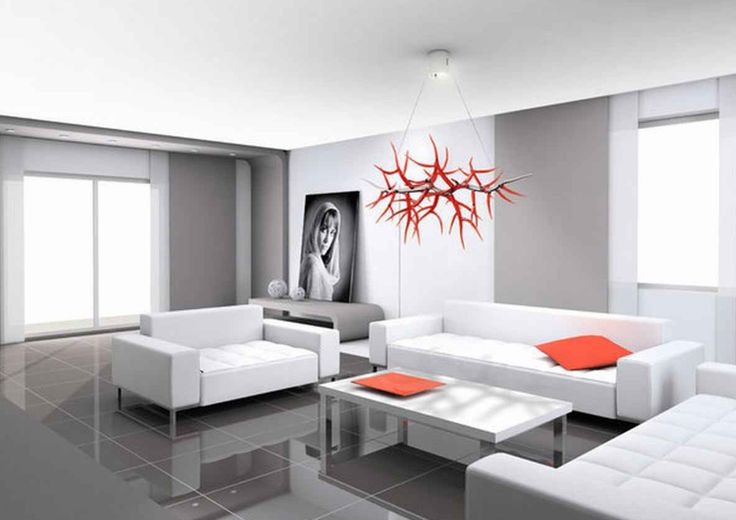 modern chandelier in a living room - Google Search
