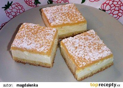 Falešný tvarohový koláč II. recept - TopRecepty.cz