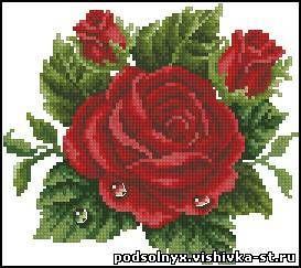 Схемы для вышивки бисером цветы скачать бесплатно