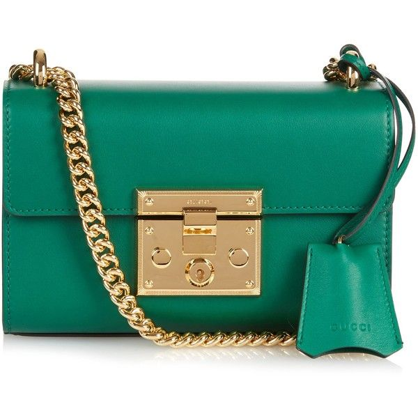 Gucci Padlock mini leather shoulder bag ($1,386) ❤ liked on ...