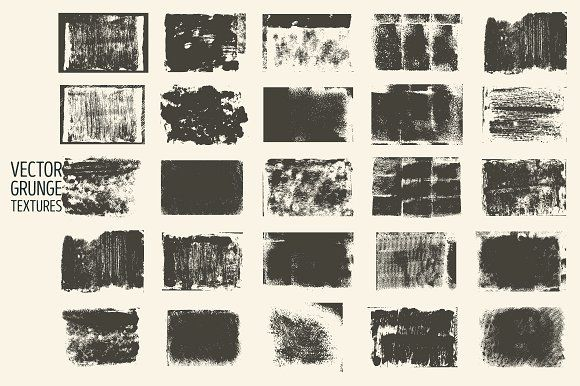 Set of vector grunge textures. by PoPaShop on @creativemarket