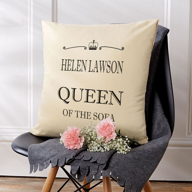 Queen of the Sofa: Beautiful💕Personalised Cushions. Easy to Create & Preview On Screen Before You Buy. A perfect gift for any occasion. Fast Free Delivery.⠀⠀