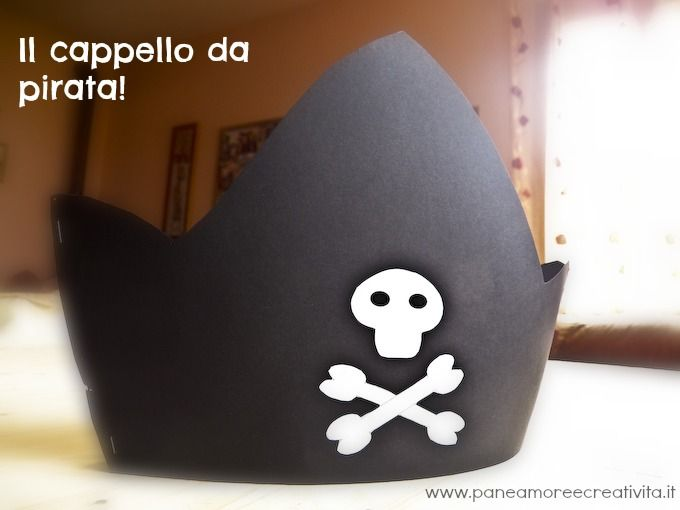 Carnevale con i bimbi: cappello da pirata