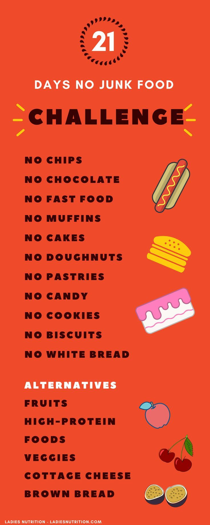 Do You Feel Constantly Tired If The Answer Is Yes You Ve Been Eating Junk Food For A Really Long Time And You No Junk Food Challenge Food Challenge Junk Food