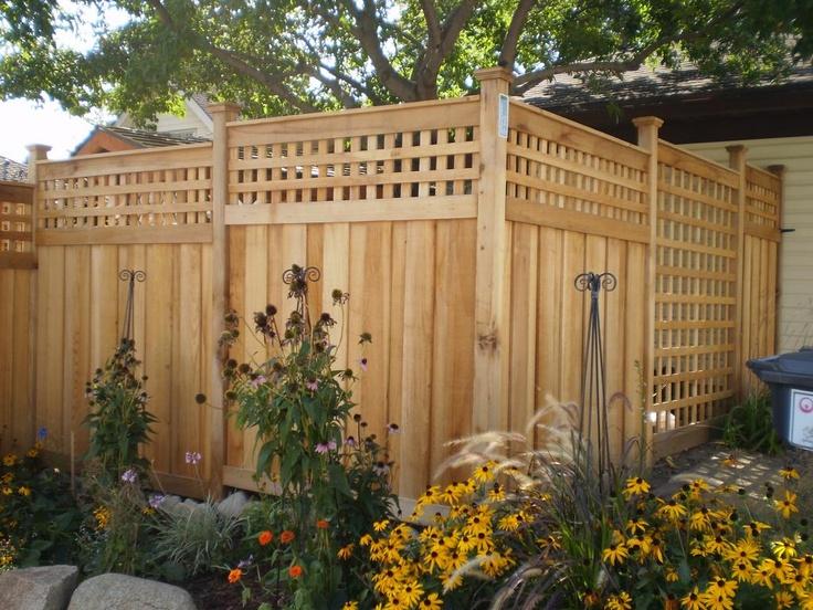 Square Lattice, Topper, Post Style · Square LatticeFence IdeasBackyard IdeasGarden  IdeasFencingOutdoor GardensHot TubsHouse ...