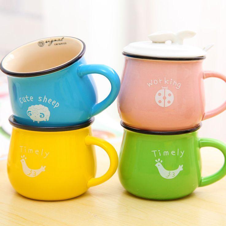 6 colori creativi tazza al giorno di stile del giappone zakka coppia colazione caffè/tè/latte tazze di vetro con coperchio e cucchiaio all'ingrosso in          Caro amico         Benvenuti a spille abbigliamento eway internda Tazze su AliExpress.com | Gruppo Alibaba