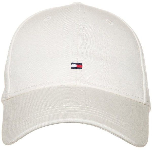Tommy Hilfiger CLASSIC ❤ liked on Polyvore featuring accessories, hats, caps, white, cap hats, white hat, tommy hilfiger, white cap and tommy hilfiger hat