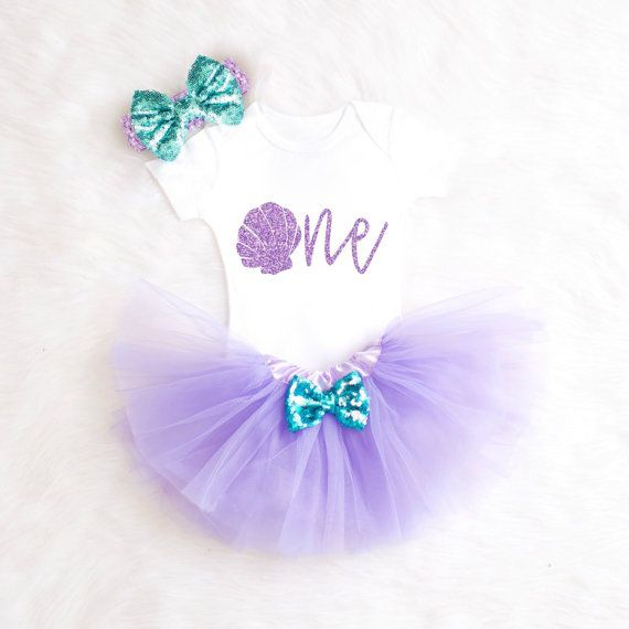 Mermaid 1st Birthday Outfit One Birthday by KennedyClairesCloset                                                                                                                                                                                 More