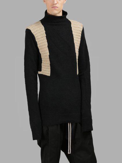RICK OWENS Rick Owens Men'S Black Turtleneck. #rickowens #cloth #knitwear