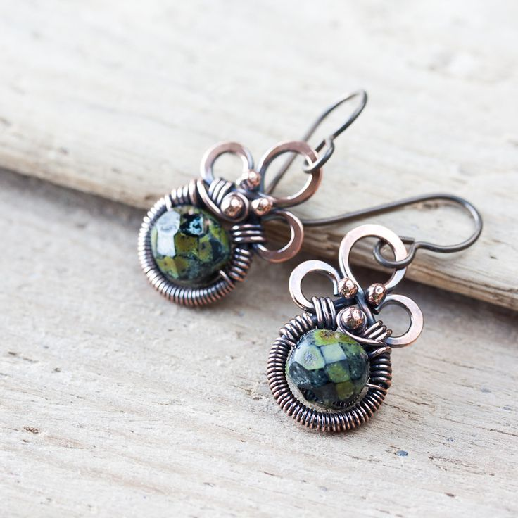 863 best Wire Wrapped Earrings images on Pinterest | Earrings, Wire ...