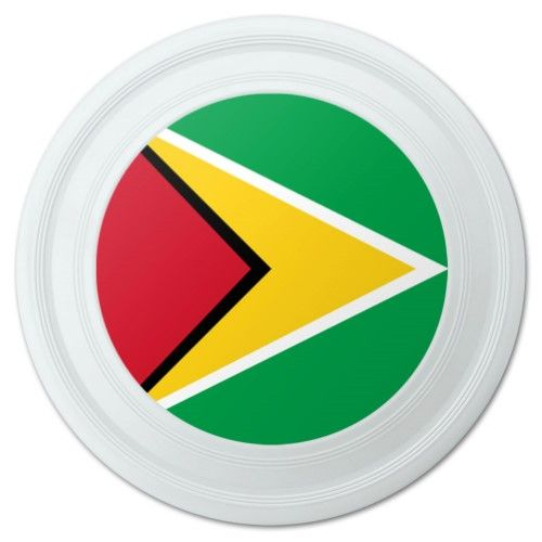 Guyana National Country Flag Novelty 9' Flying Disc