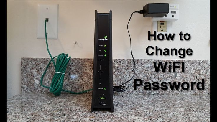 WiFi password change & reset - CenturyLink C1100Z DSL Modem Router - Mod...