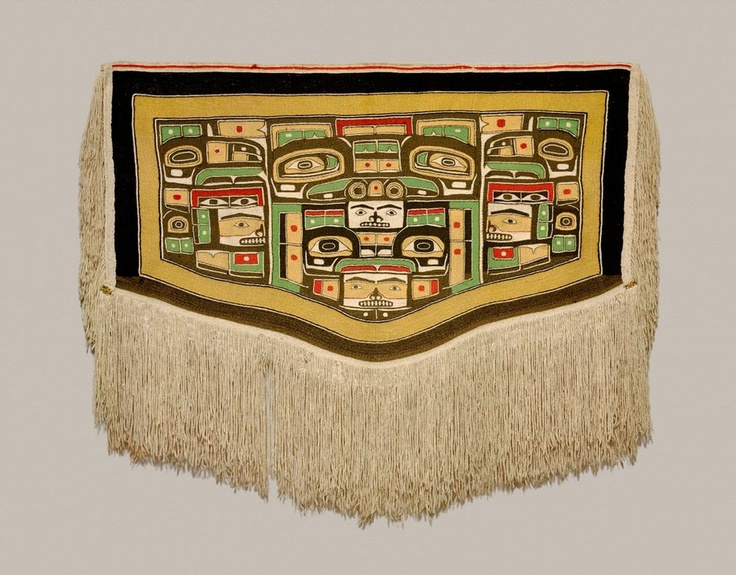 Here is the chilkat blanket that my granny is wearing in the picture in the front of the house! It is now at the Nelson-Atkins Museum of Art in Kansas City.