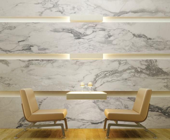 Urbatek XLight Nvy   Marble Look Slimline Porcelain Slabs   Available at Ceramo