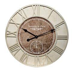 MDF WALL CLOCK IN BEIGE -BROWN COLOR 60(5)