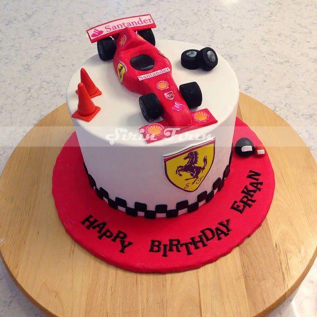 şirin fırın: Formula-1 , Ferrari Pastası,  f-1 cake, formula 1 cake, ferrari cake, butik pasta, doğum günü pastası, erkekler için doğum günü pastası, cake for man, f-1 racing car cake,
