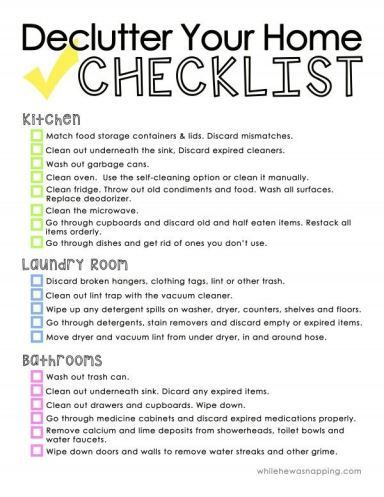 134 best images about organizing printables on for Declutter house plan